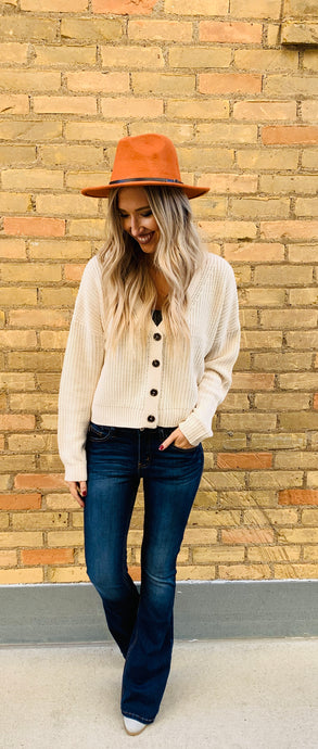 Crop Button Up Sweater