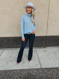Skyblue Turtle Neck Sweater