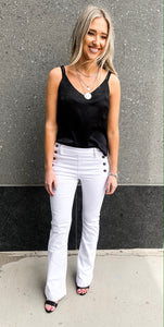 Black Cowl Tank with Spaghetti Straps