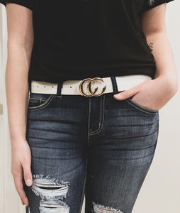 White CC Belt