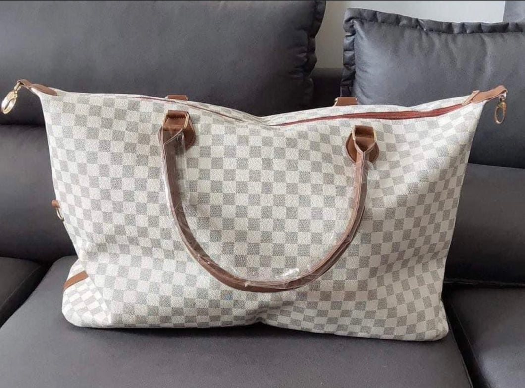 Checkered Weekender Bag- 2 colors