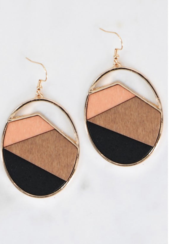 Color Block Dangle Earrings