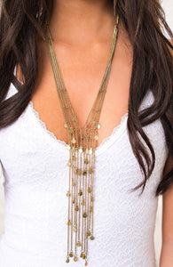 Gold Multi Strand Necklace