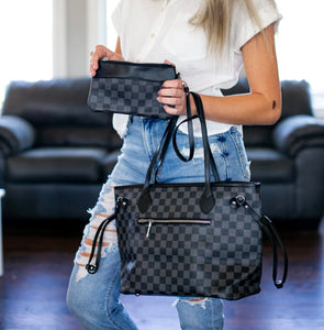 Black Lacey Tote