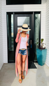 Multi Colored Knit Duster