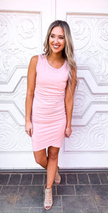 Ruched Tank Dress - 2 Colors