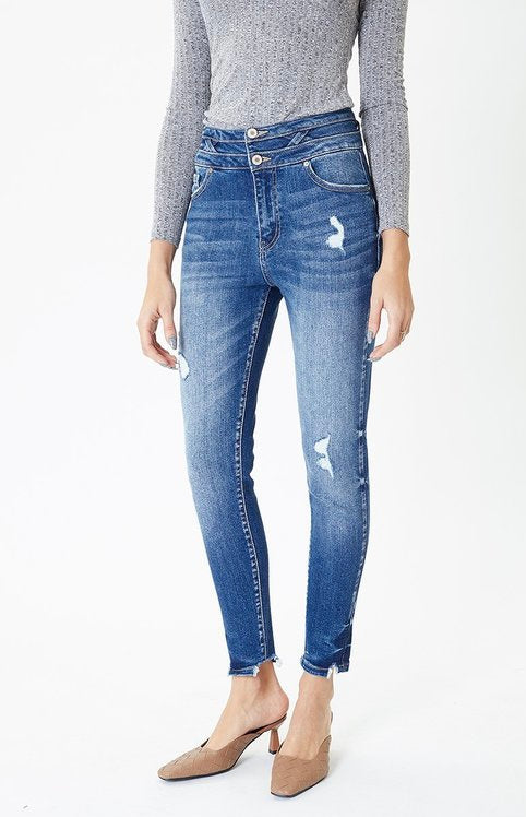 Urban Double Button High Rise Denim