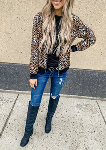 Cheetah Print Bomber Jacket- 2 Colors