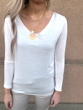 White Soft Long Sleeve with Trim Detail