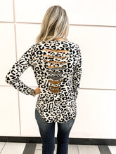Leopard Print Long Sleeve with Cut Back