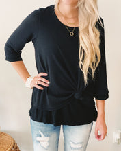 Lined Waffle Knit Tie Top
