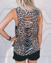 Leopard Print Tank with Cutout Detail