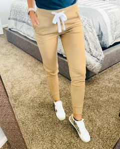 Tan Fleece Joggers