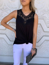 Crochet Lace Sleeveless Tank - 2 colors