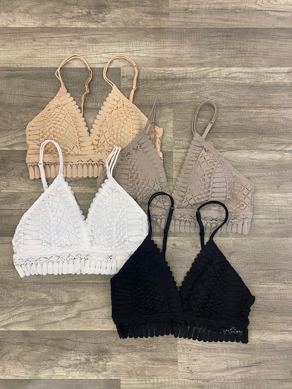 Lace Dreams Bralette- 4 Colors