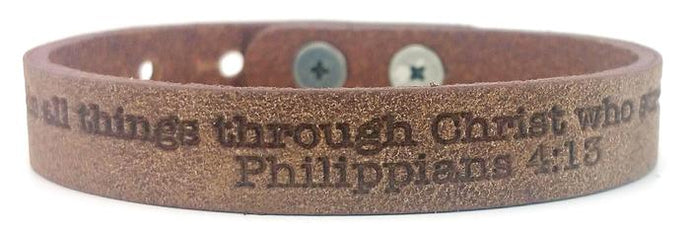 Single Scripture Bracelet Philippians 4:13
