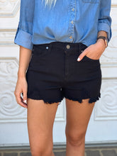 Black Hadley High Rise Shorts