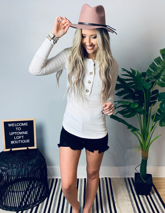 Button Long Sleeve Top
