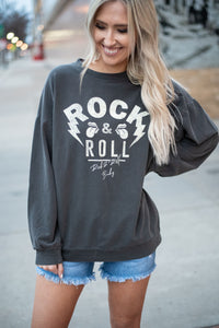 Charcoal Rock & Roll Long Sleeve