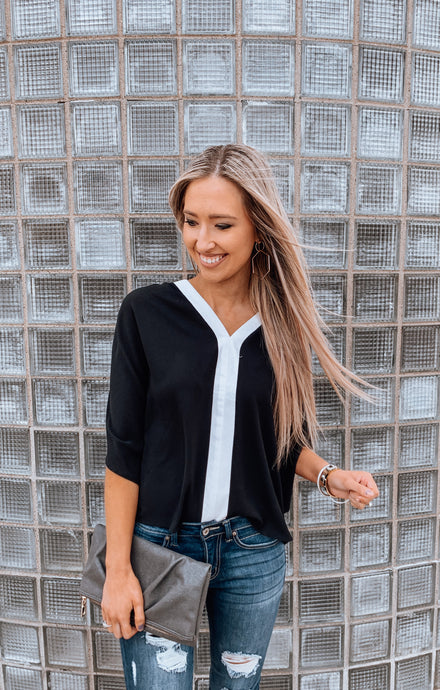 Black Contrast Top