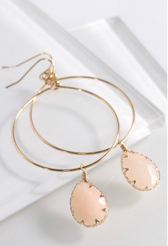 Teardrop dangle earrings- 2 colors