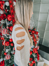 Ivory Laser Cut Sweater