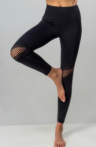Black Seamless Knee Hole Leggings