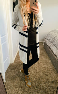 Lightweight Stripe Knit Cardigan- 4 colors