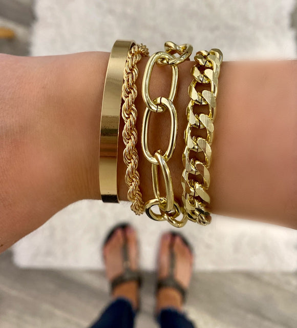 Chain Layering Bracelet- 2 colors
