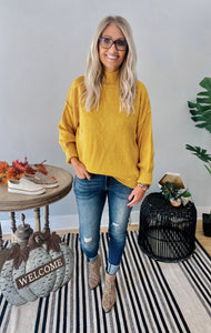 Amber Yellow Turtle Neck Sweater