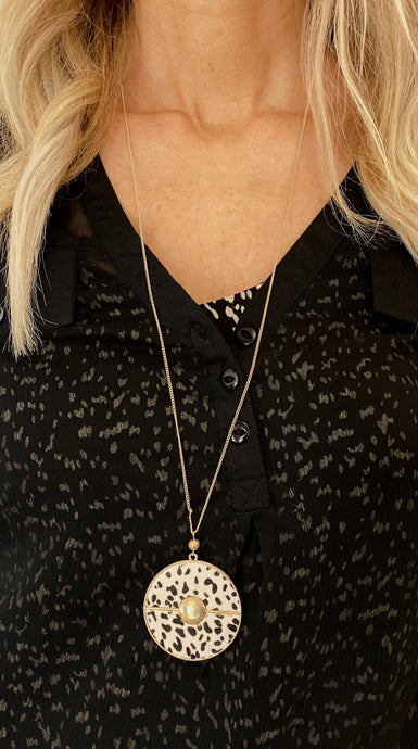 Gold Dotted Necklace