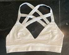 Double Criss Cross White Bralette