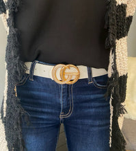 Leather Belt with Rhinestone Studs- 2 colors