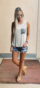 Camouflage Pocket Tank- 2 colors