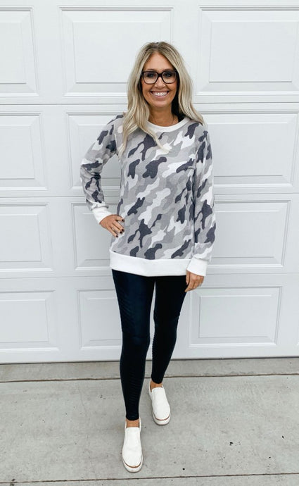 Camo Long Sleeve Top