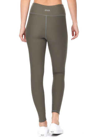 Amy - Plain Agave Green Brushed 7/8 Legging - evcr2
