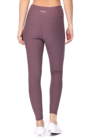 Amy - Plain Amethyst Brushed 7/8 Legging - evcr2