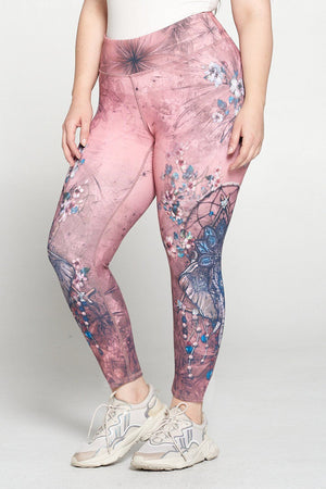 Boho Elephant 7/8 Legging Activewear