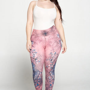+ Boho Elephant 7/8 Legging - Plus Size