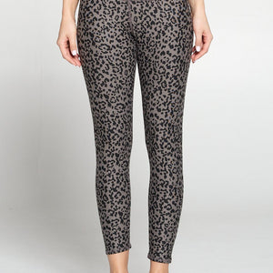 Brianna - Brown Abstract Cheetah Full-Length (High-Waist)