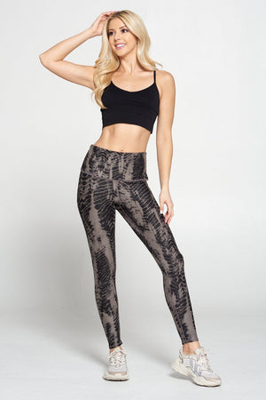 Brianna - Brown Linear Mix Full-Length (HW) Activewear