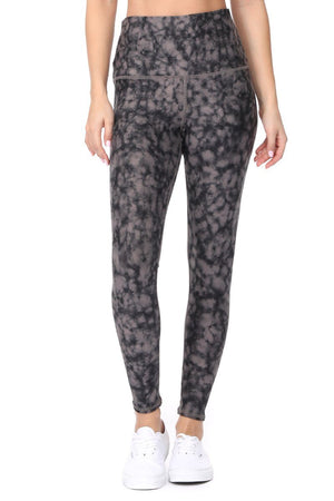 Brianna - Tie Dye Effect Wet Sand Full-Length (HW) Activewear