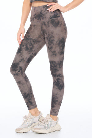 Brianna - Wet Sand Tie Dye Smudge Full-Length (HW) Activewear