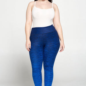 + Dark Royal Blue Ombre 7/8 Legging - Plus Size