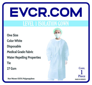 Disposable Medical Grade Isolation Gown (Level 1) (Medical Grade) (White) NO RETURNS