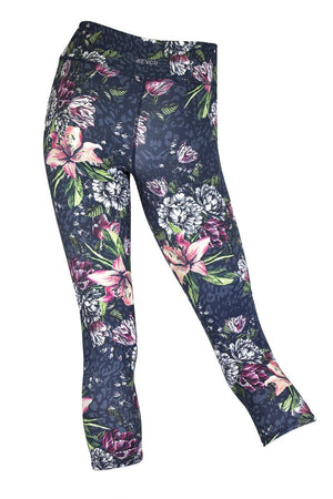 Floral Cheetah 7/8 Legging