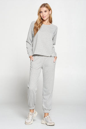 Gigi - Heather Grey Sweatshirt Activewear
