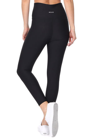 Gisele - Plain Black Brushed Legging 7/8 (HW) - evcr2