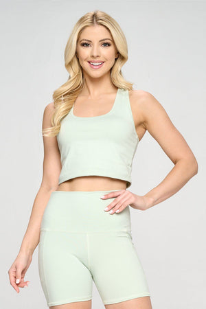 Kendall - Honeydew Compression Crop Tank - LIMITED EDITION Activewear