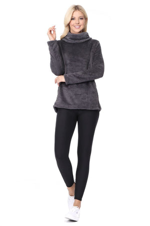 Kristy - Grey Funnel Hoodie w Pockets Activewear